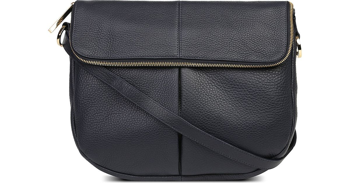 00a5d50c1b Whistles Duffy Leather Satchel in Black - Lyst