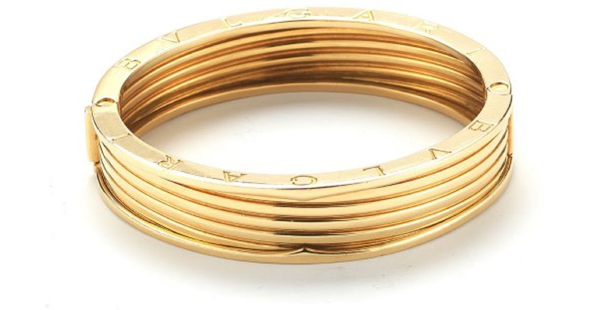 Lyst Bvlgari Pre Owned 18k Yellow Gold Bangle Bracelet In Metallic