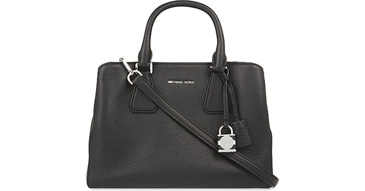 f5f08e6bf3e1 ... discount lyst michael michael kors camille large satchel in black 7be25  baf29 purchase michael kors sloan small shoulder bag ...
