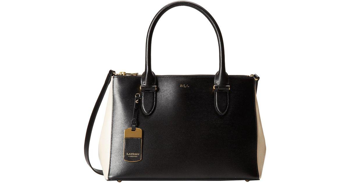 b403e6f93b0 Lyst - Lauren by Ralph Lauren Newbury Double Zip Shopper in Black