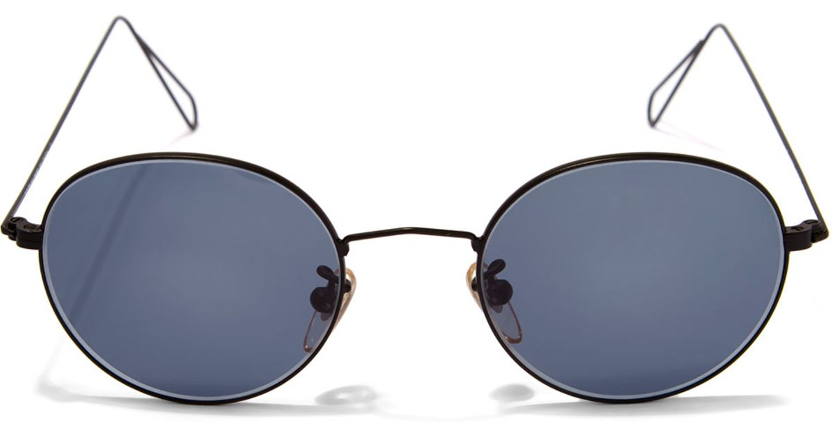 thin wire cutler gross 0306 vintage thin wire sunglasses in black for men