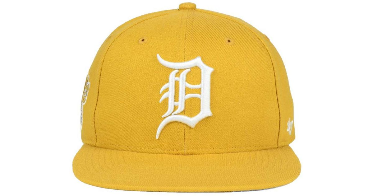 promo code 5931b e28a6 ... coupon for lyst 47 brand detroit tigers wheat sure shot snapback cap in  natural for men