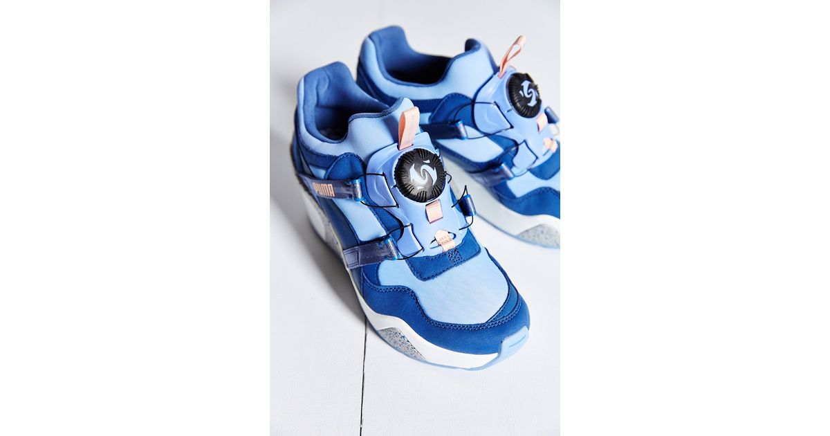7f396ffc7fa Lyst - PUMA X Sophia Chang Trinomic Wedge Sneaker in Blue