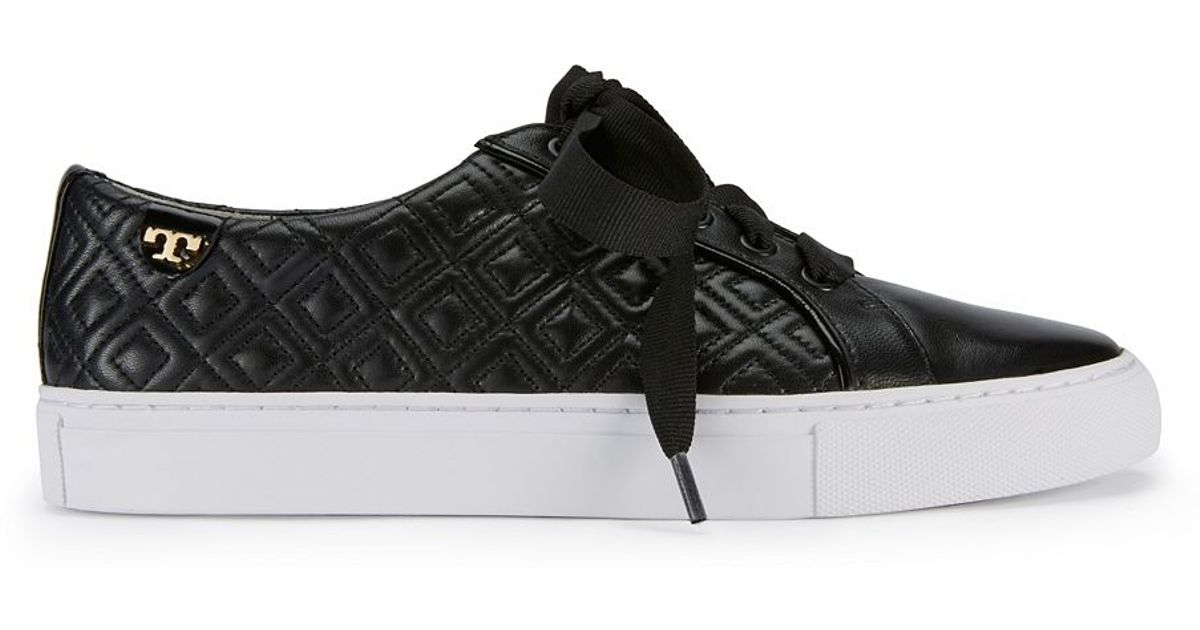 f5acac488b1 Lyst - Tory Burch Marion Quilted Sneaker in Black