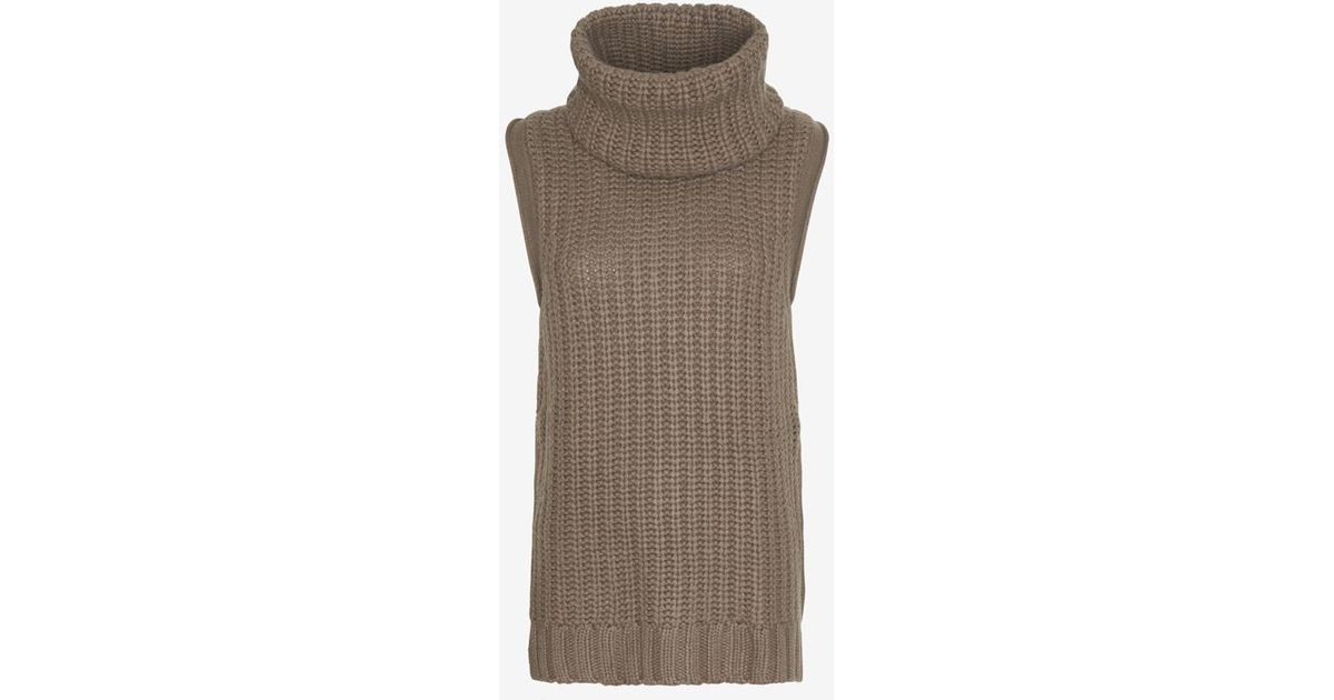 ff6a84a9af18 Autumn Cashmere Sleeveless Turtleneck Sweater Dress in Brown - Lyst