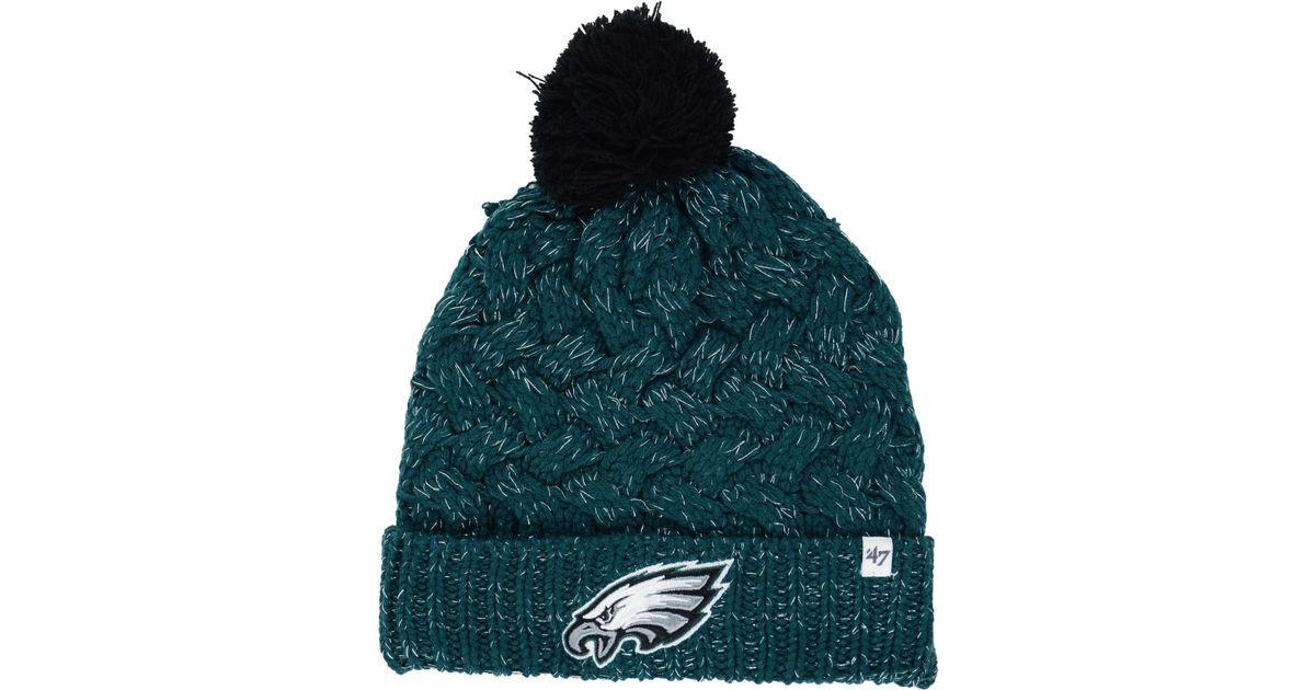 94925d234 47 Brand Women's Philadelphia Eagles Fiona Pom Knit Hat in Green - Lyst