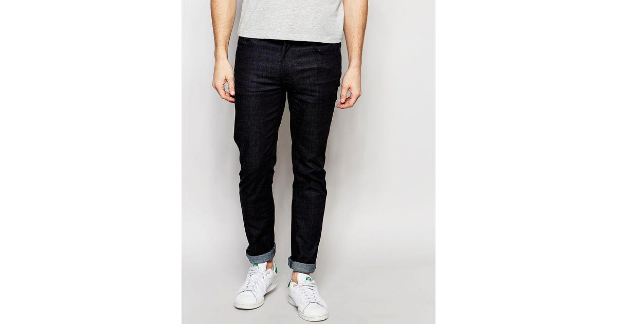 2f2e8bf5ab Lyst - Nudie Jeans Thin Finn Slim Fit Dry Deep Dark in Black for Men