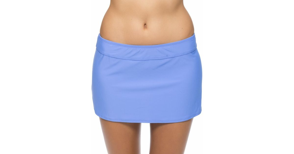 athena cabana solids a line swim skirt in blue lyst
