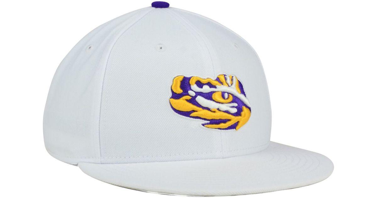 buy online 4c818 611e9 ... best price lyst nike lsu tigers true hardwood seasonal cap in white for  men b7cff 97c73