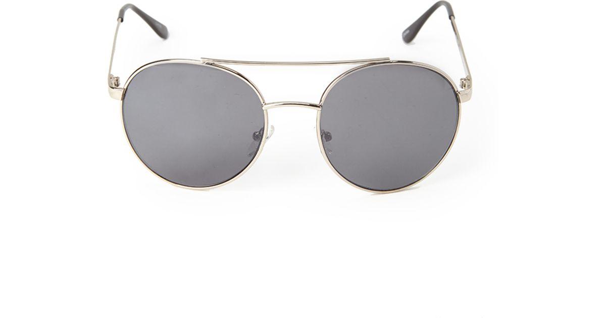 0d09b948eb0 Lyst - Forever 21 Round Aviator Sunglasses in Gray