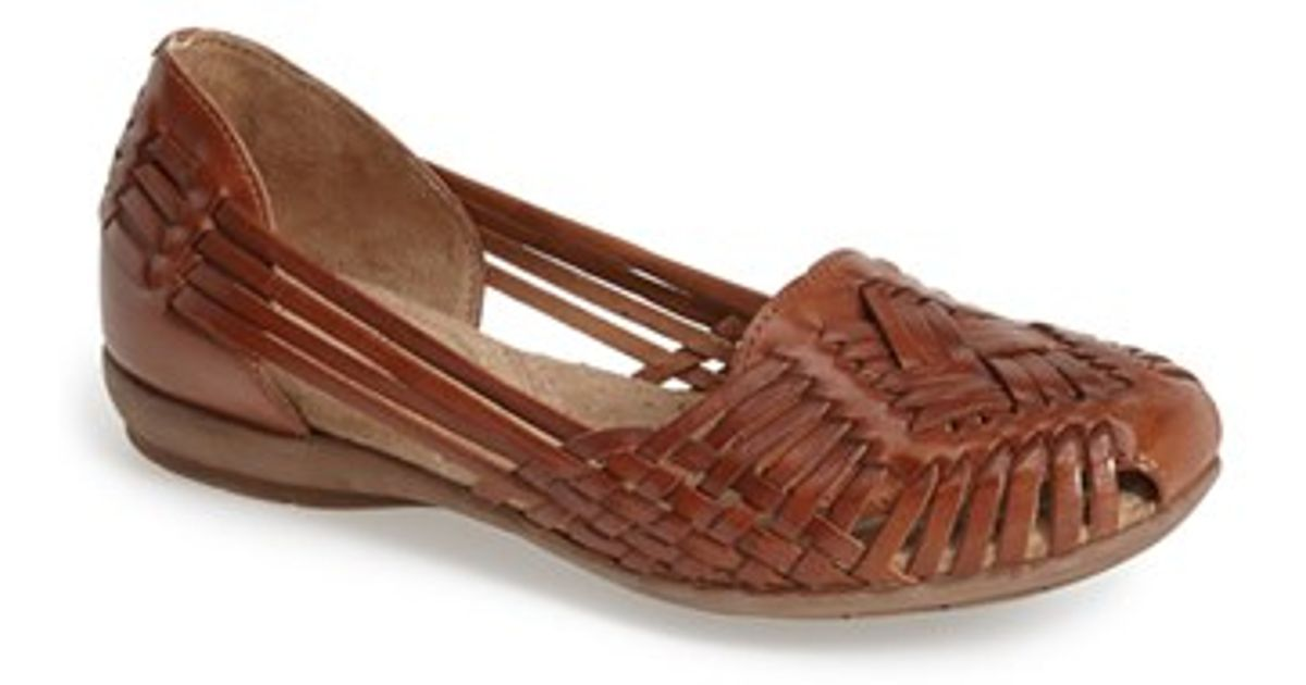 bbbabae58ace Lyst - Naturalizer  grayson  Huarache Flat in Brown