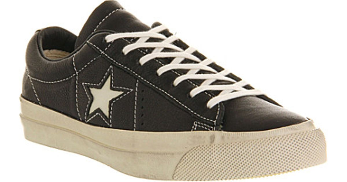 Converse John Varvatos One Star Trainers - For Men in Black for Men - Lyst cc3015cc7