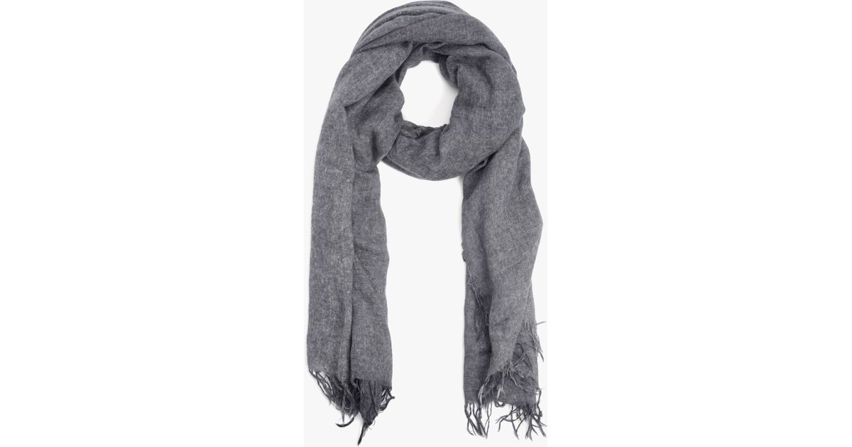 e29b64c5e 7 For All Mankind Subtle Luxury Cozy Cashmere Scarf In Charcoal in Gray for  Men - Lyst