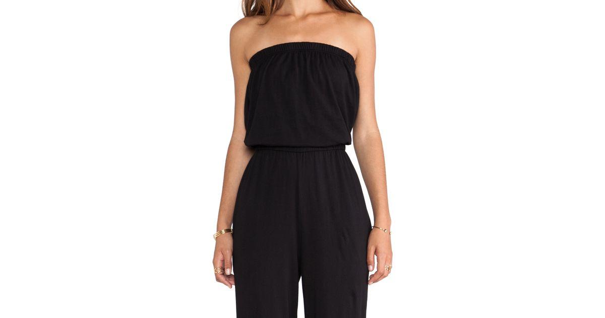 Lyst Bobi Supreme Jersey Jumpsuit In Black
