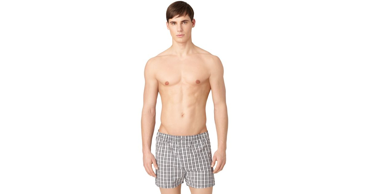 calvin klein three pack woven boxer shorts set in gray for. Black Bedroom Furniture Sets. Home Design Ideas