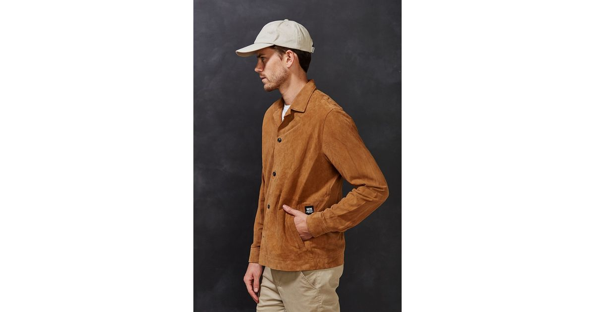 Wood wood Donald Suede Jacket in Brown for Men | Lyst