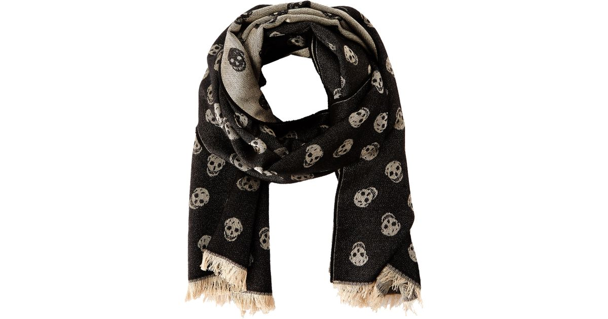 aa9027e64e22 Lyst - Alexander McQueen All Over Skull Scarf in Black for Men