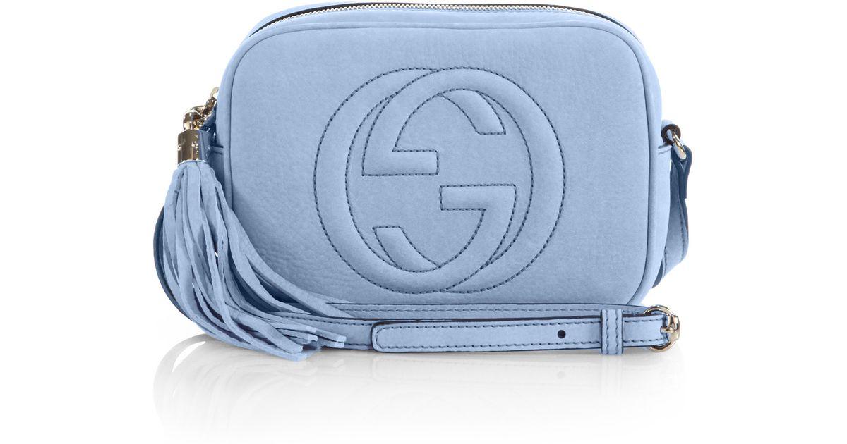 7858573c3278 Lyst - Gucci Soho Nubuck Leather Disco Bag in Blue