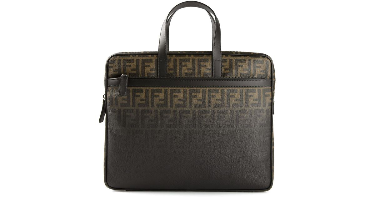 58d79c735ad3 Lyst - Fendi Logo Laptop Bag in Brown for Men