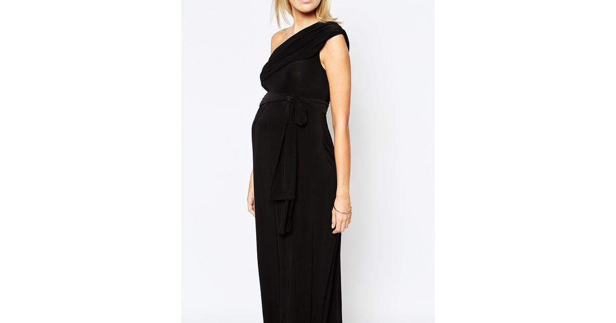Isabella oliver One Shoulder Maxi Dress in Black  Lyst