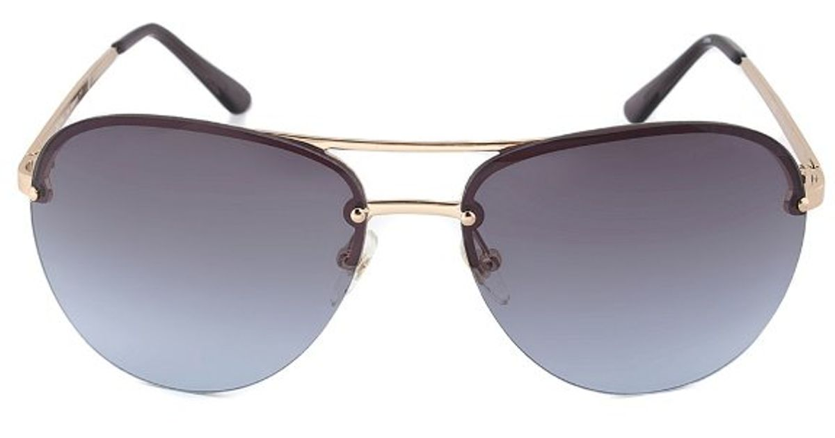 b0a8024b225aa Lyst - Michael Kors Kai Navy Blue Aviator Sunglasses in Black