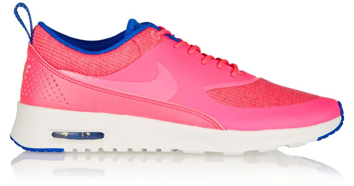 889463d551 Nike Air Max Thea Premium Coated-Mesh And Leather Sneakers in Pink - Lyst