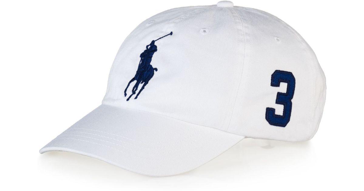 8e4995eae45 Lyst Ralph Lauren Polo Clic Chino Sports Cap In White For Men
