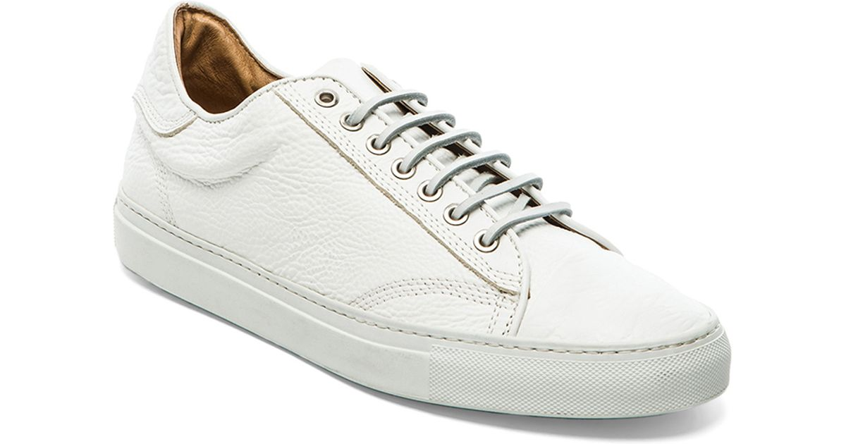 28ac8904b255 Lyst - Wings + Horns Leather Low Top Sneaker in White for Men