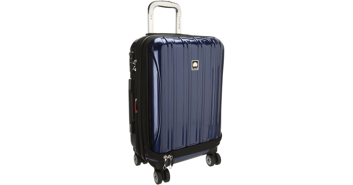 delsey helium aero 19 international carry on expandable trolley in blue for men save 50 lyst. Black Bedroom Furniture Sets. Home Design Ideas