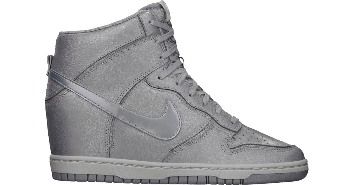 pretty nice 22b4d dfad9 Lyst - Nike Dunk Sky Hi Cut Out Premium Wolf Grey in Gray