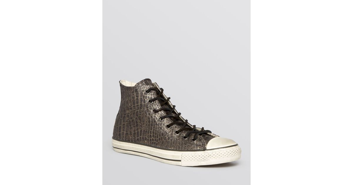 3bb4dc7668fe Lyst - Converse By John Varvatos All Star Reptilian Leather High Top  Sneakers in Metallic for Men