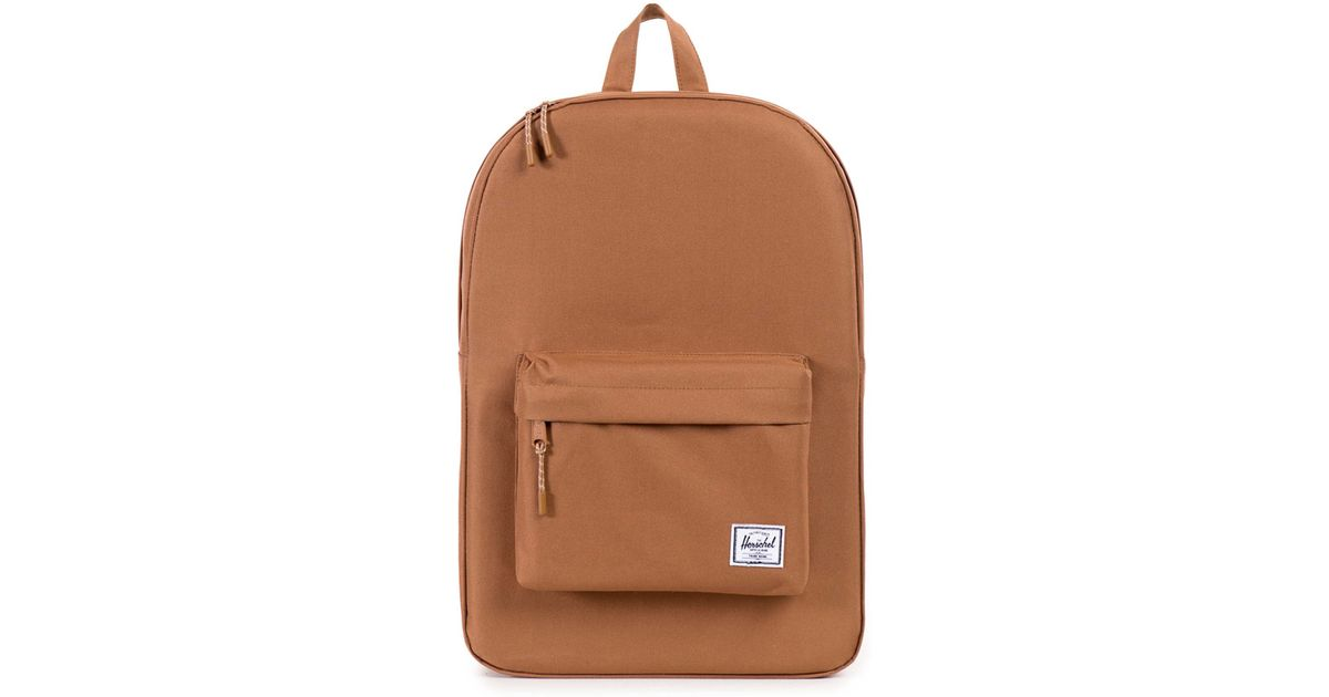 herschel supply co caramel classic backpack 22 l in beige for men camel save 20 lyst. Black Bedroom Furniture Sets. Home Design Ideas