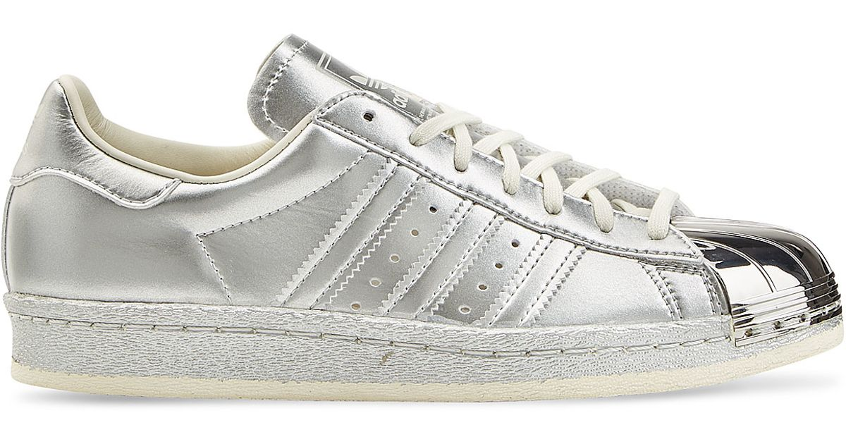adidas Originals Grey Metallic Superstar Trainers With Silver Toe Cap