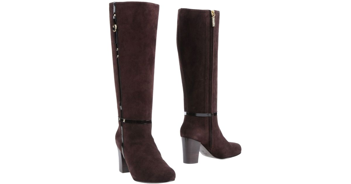 pedro hierro madrid high heeled boots in brown lyst
