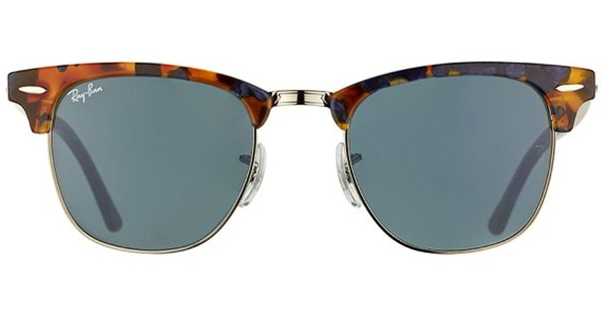 f3c0761033 ... germany lyst ray ban clubmaster rb 3016 1158r5 spotted blue havana  clubmaster plastic sunglasses 51mm in