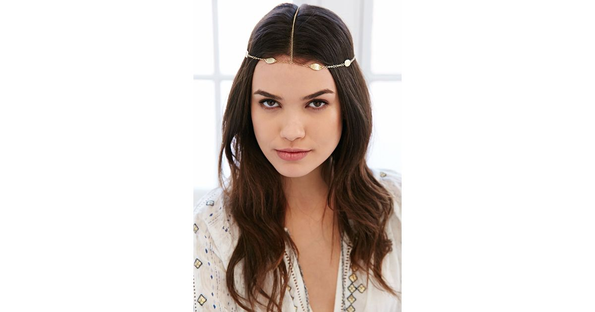 Lyst - Urban Outfitters Solstice Goddess Chain Headwrap in Metallic c109ab29396
