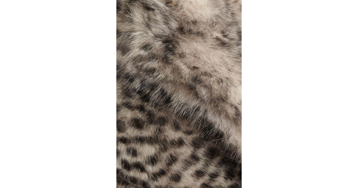c1cf968c1ad3 Topshop Unique D'arblay Cheetah-print Shearling Coat - Lyst