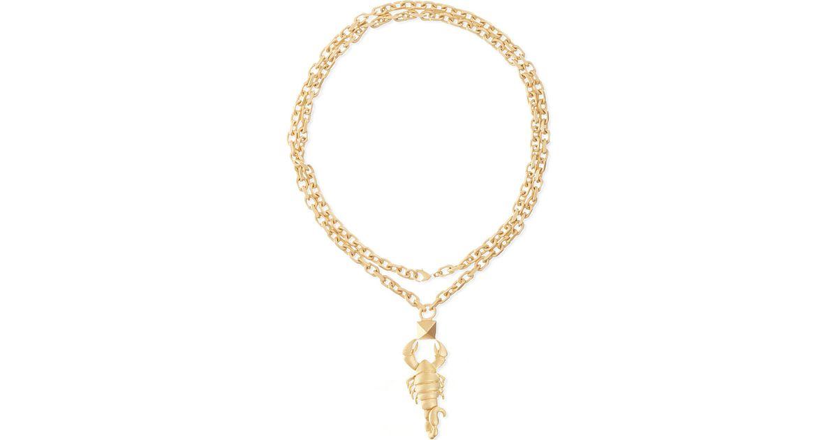 Valentino Crystals Lettering Necklace in Metal and Zaffiro Swarovski Crystals Valentino Big Sale Sale Online Free Shipping Fake EU7F5Tu62