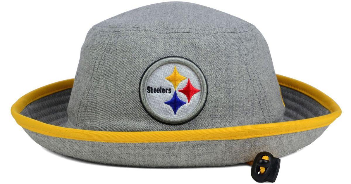 ec34bc919c8 Lyst - KTZ Pittsburgh Steelers Nfl Heather Gray Bucket Hat in Gray