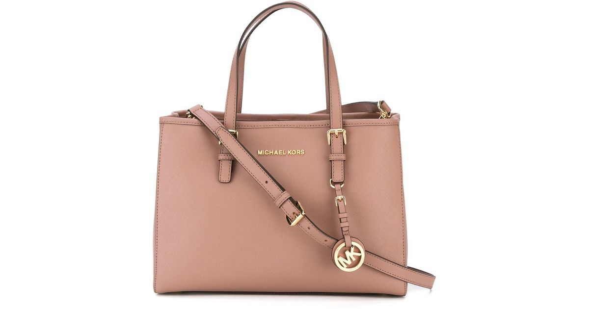c8b07e2a4cb8 ... coupon for lyst michael michael kors jet set travel tote in pink e8834  aa8f9 ...