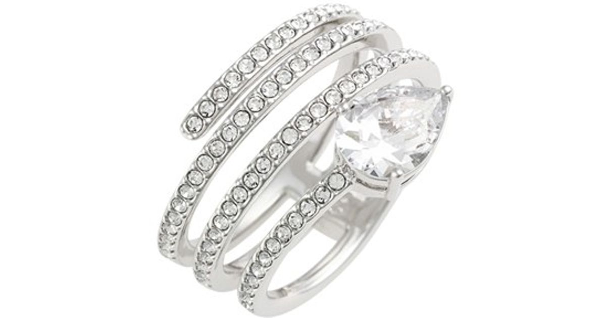 56dbe7ba05507a Nadri 'celeste' Spiral Ring - Rhodium in Metallic - Lyst