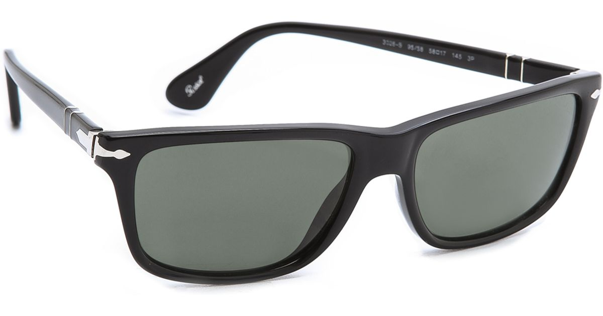 dfac1dc3089 Lyst - Persol Rectangular Polarized Sunglasses in Black for Men