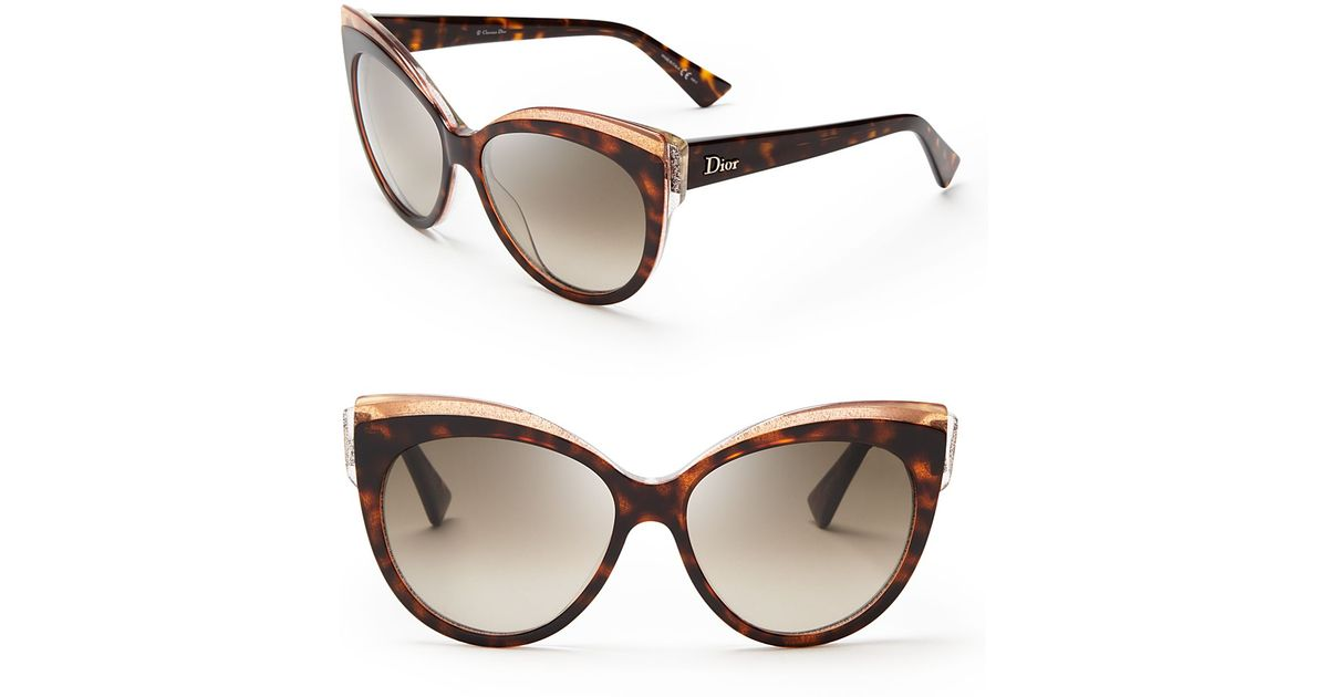 2596f2fe6c8 Lyst dior glisten cat eye sunglasses in brown jpeg 1200x630 Dior cat eye