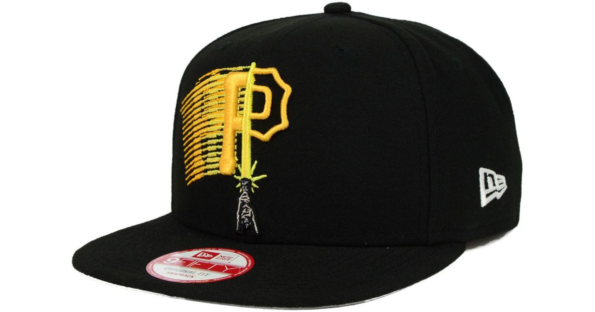 finest selection 80ca1 f09e9 KTZ Pittsburgh Pirates Star Wars Logoswipe 9Fifty Snapback Cap in Black for  Men - Lyst