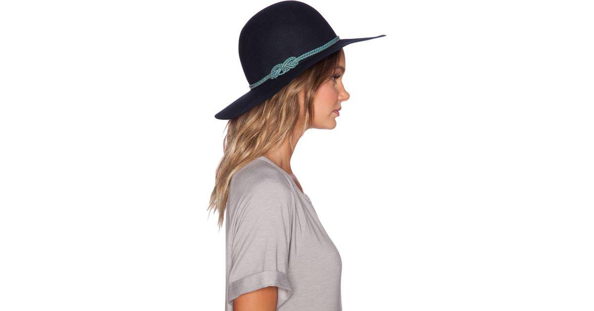 95fd87ce243 Lyst - Hat Attack Round Crown Floppy Hat in Blue