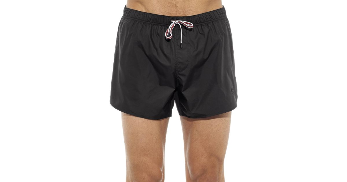 41cfdc9885 Gucci Contrast-Drawstring Swim Shorts in Black for Men - Lyst