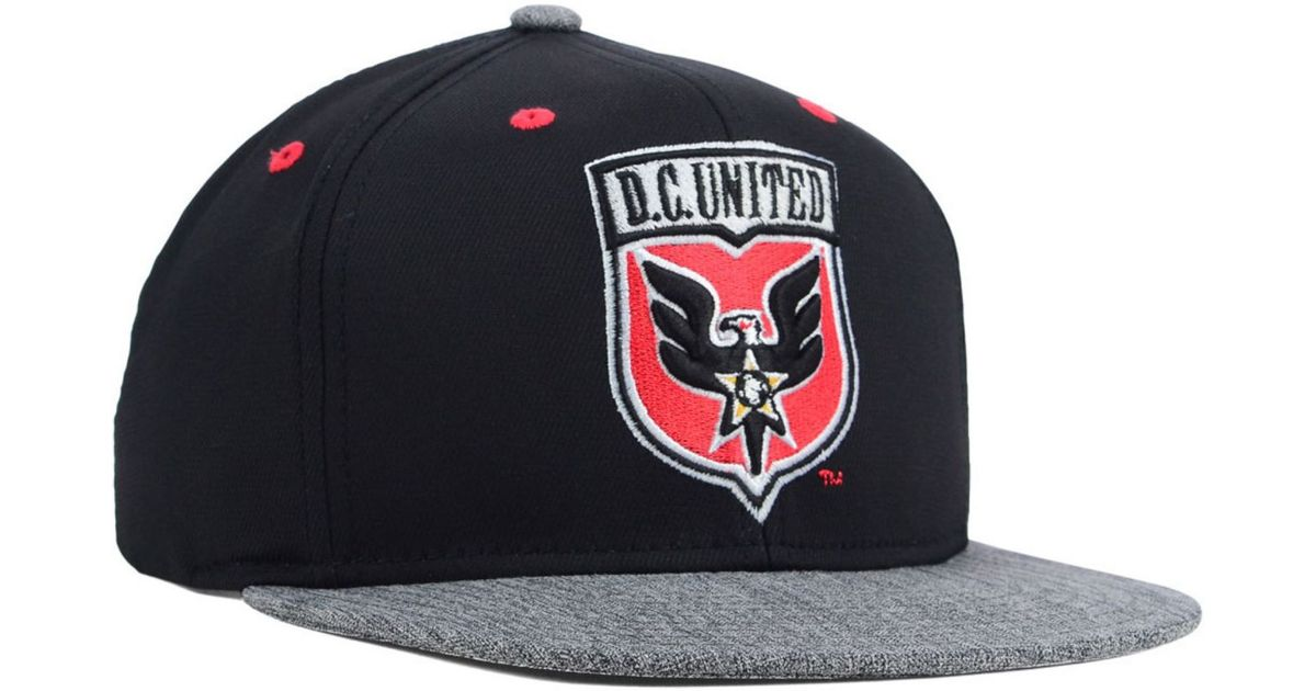 purchase cheap 667f5 bb2c9 Lyst - adidas Dc United Team Snapback Cap in Black for Men