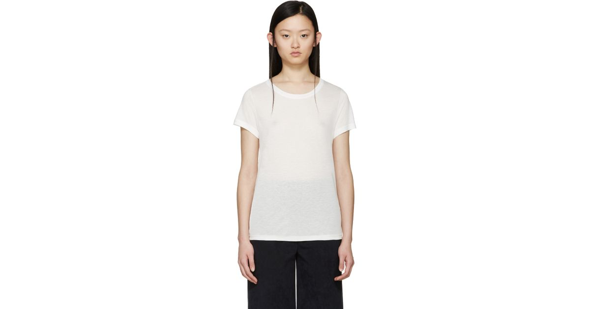 Lyst a p c white lilo t shirt in white for Apc white t shirt