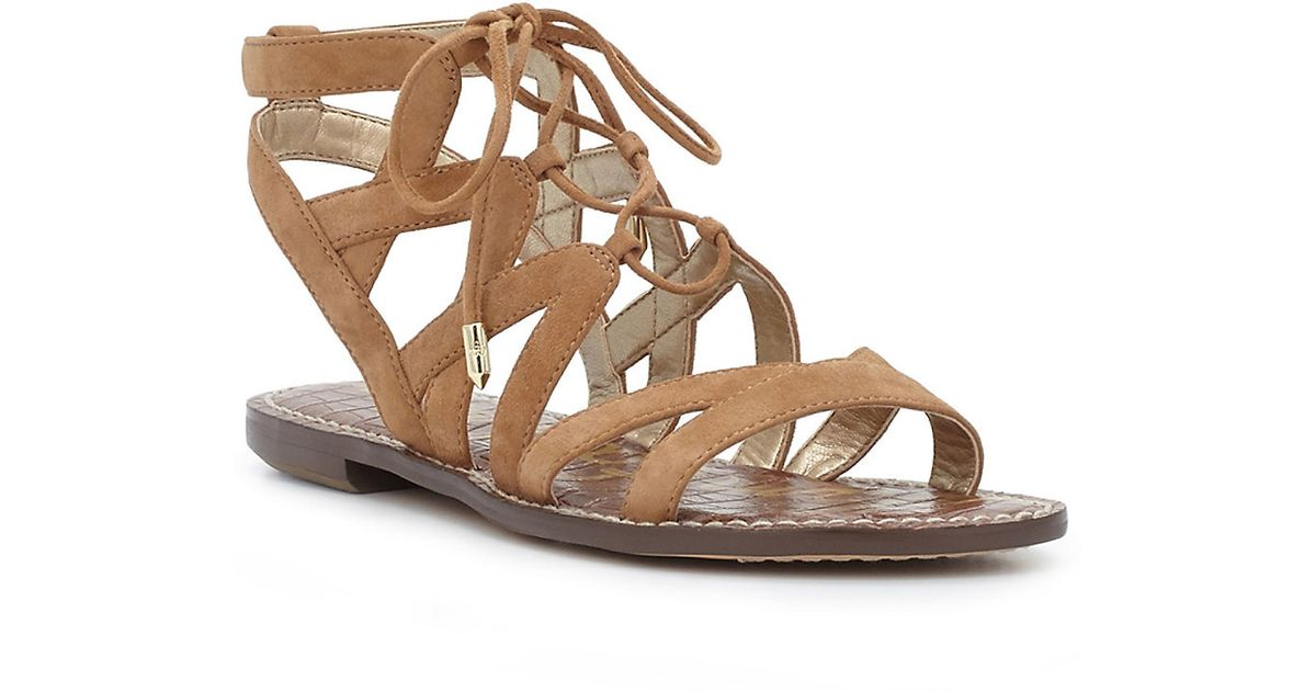 Sam Edelman Gemma Suede Gladiator Sandals in Brown - Lyst 7c93ffa6b