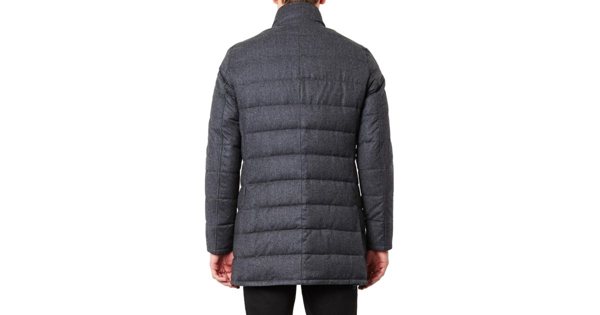 moncler vallier wool-flannel down coat